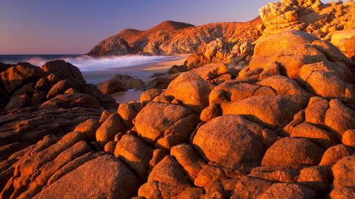 Granite Rock Shoreline at Sunset, Baja California Sur, Mexico.jpg