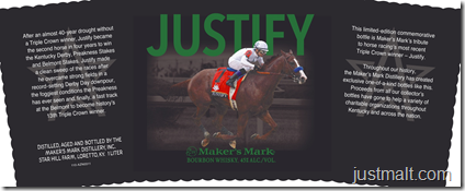 Maker's Mark Triple Crown Winner Justify Commemorative Bottles