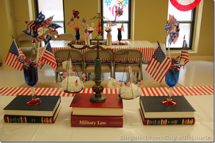 Law Books and Scales for Patriotic Party