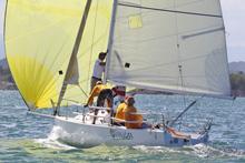 J/80 sailing off San Juan, Puerto Rico