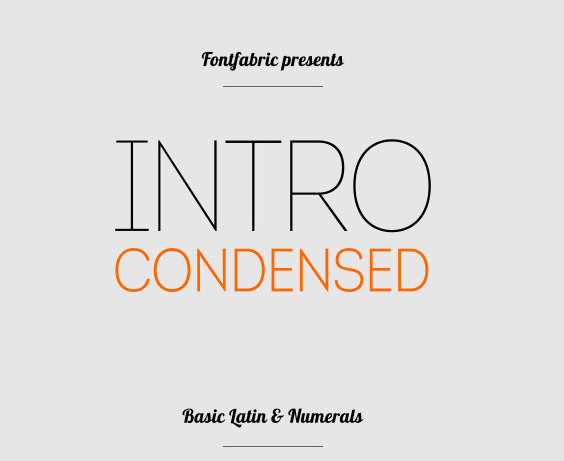 Intro Condensed Free Fonts