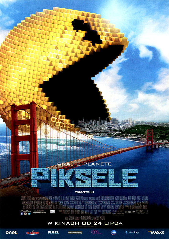 Ulotka filmu 'Piksele (przód)'