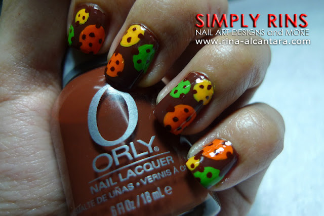 polka dots nail art design 05