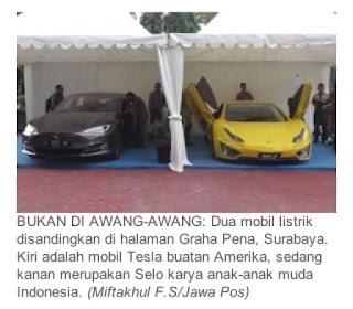 mobil listrik amerika tesla vs mobil listrik indonesia selo