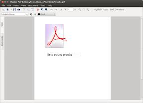 Modifica archivos pdf con Master PDF Editor