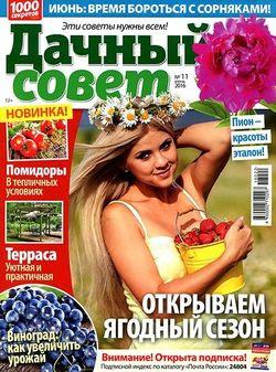 Читать онлайн журнал<br>Дачный совет (№11 июнь 2016)<br>или скачать журнал бесплатно