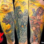 warrior medieval tattoo by jackie rabbit - Samurai Tattoo & Warrior Tattoos