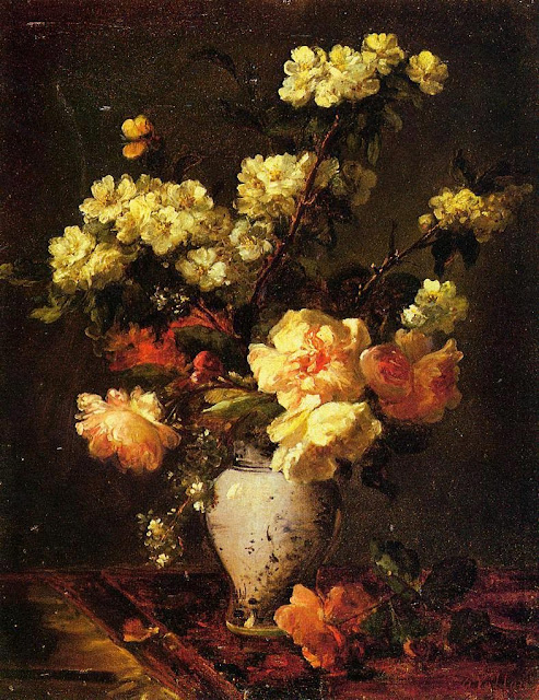 Antoine Vollon - Peonies and Apple Blossoms in a Chinese Vase