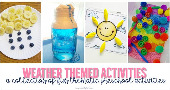 Weather Themed Activities for Preschoolers