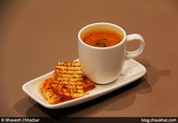 Mexican Tomato and Bean Soup served at 212 All Day Cafe & Bar at Phoenix Marketcity in Pune
