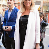 WWW.ENTSIMAGES.COM -   Katherine Kingsley    arriving at          FORBIDDEN BROADWAY - Press Night at Vaudeville Theatre London September 15th 2014Phillip George directs return of Gerard Akessandrini's comedy revue which, when it was first performed in New York, poked fun at a range of Broadway stars including Whoopi Goldberg and Elaine Paige.                                             Photo Mobis Photos/OIC 0203 174 1069
