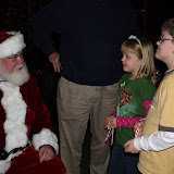 2009 Clubhouse Christmas Decorating Party - GrandKidsSantaNeil.JPG