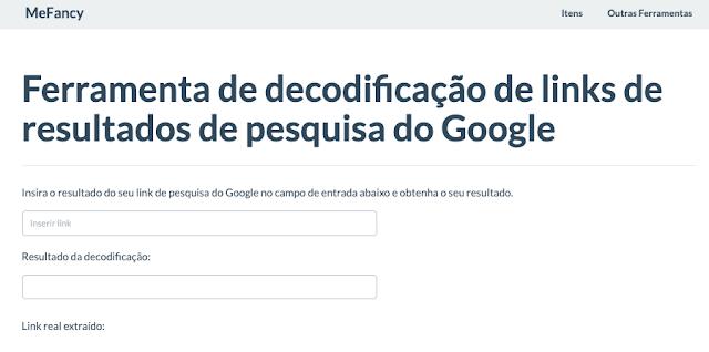 Ferramenta online de decodificação de links de resultados de pesquisa do Google