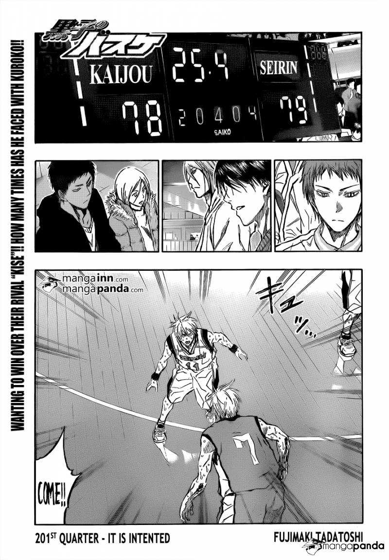 Kuroko no Basket Manga Chapter 201 - Image 01