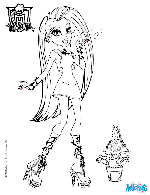 Monsterhigh Coloring Page To Printprintablecoloring Pages