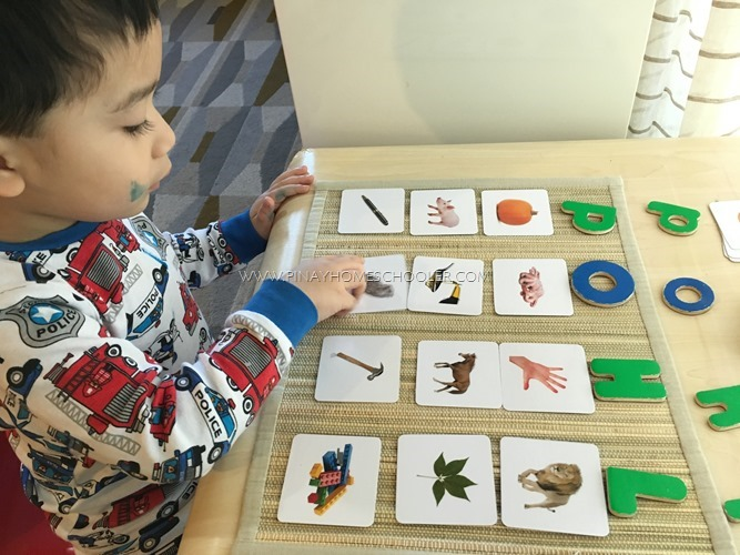 Alphabet Sorting Game Using Sound Cards