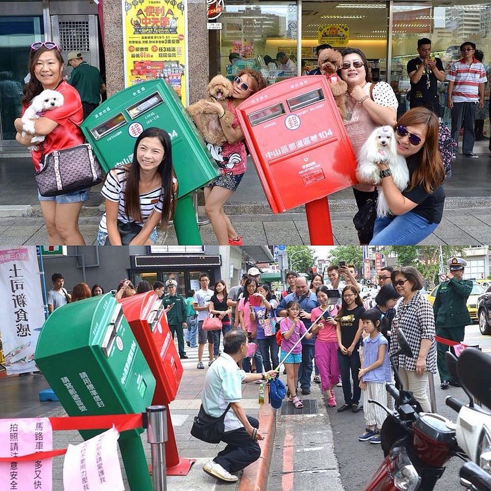 Taipei's Typhoon-Bent Mailboxes