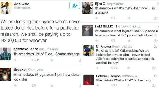 See What Some Nigerians Said On Twitter about Jollof Rice 1