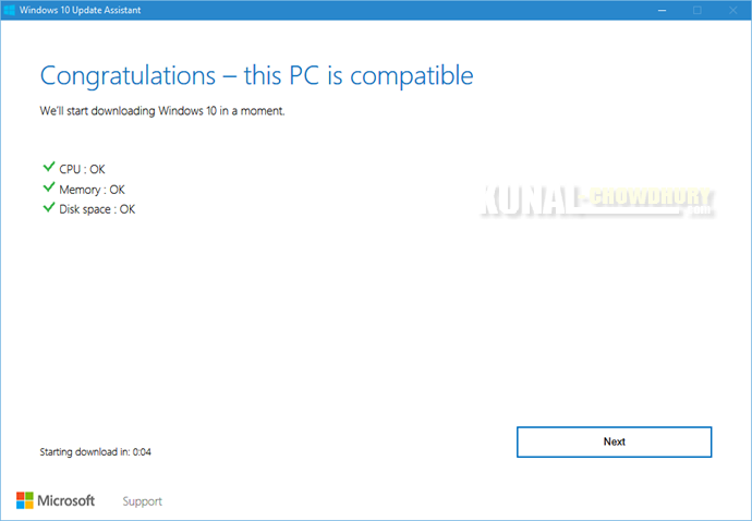 3. Congratulations - this PC is compatible (www.kunal-chowdhury.com)