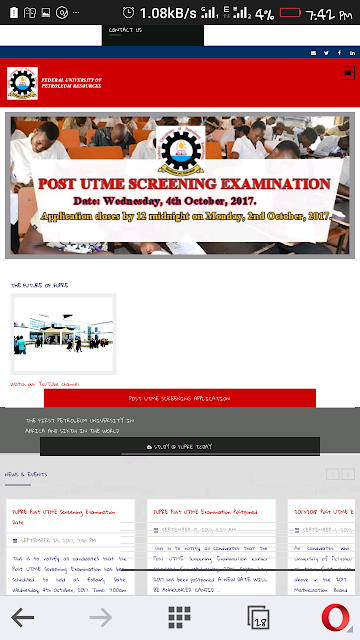 Fupre fix date  for post utme screening