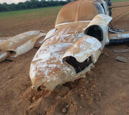 Aeronave con 175 paquetes de cocaína se estrella en Pedernales