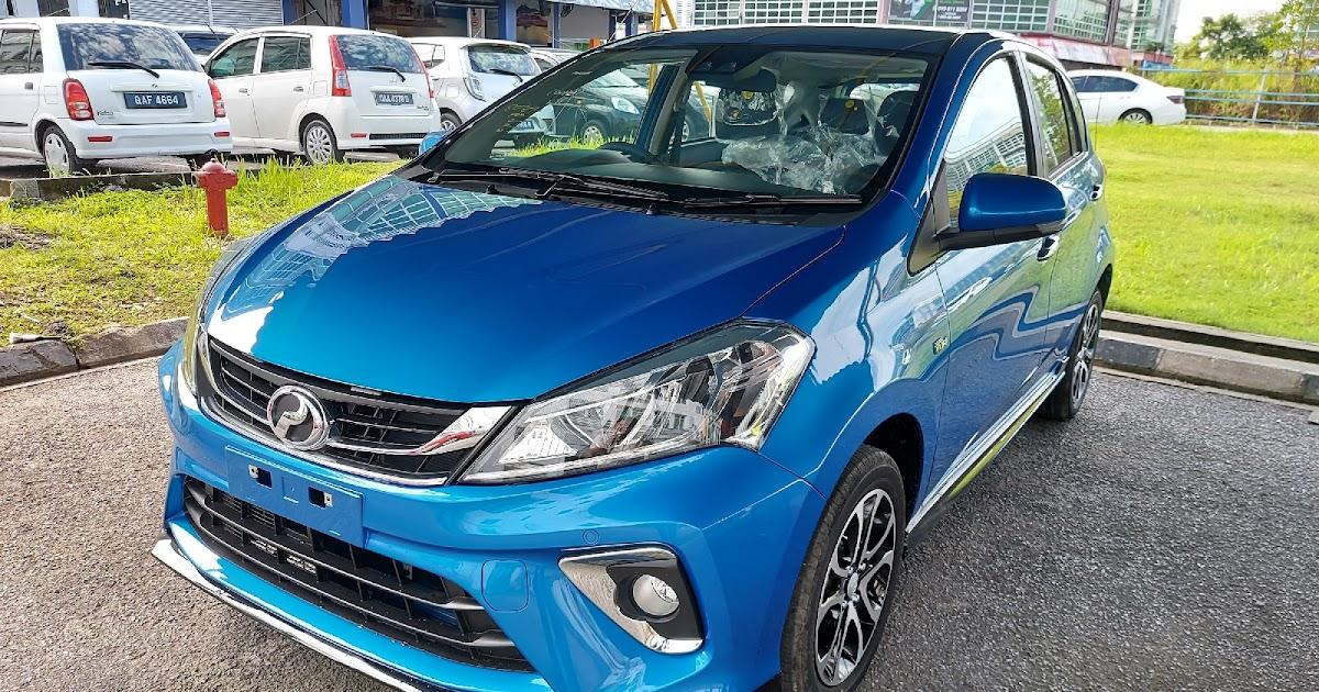 Perodua Myvi 2020 - ASA 2.0 dan warna Electric Blue