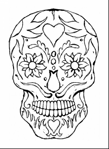Stunning Printable Adult Coloring Pages Skulls With Printable Coloring  Pages Adults And Printable Coloring Pages Adults