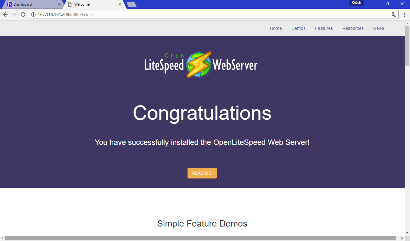 [LOMP - 1] Cài đặt Web Server OpenLiteSpeed trên Red Hat CentOS 7 – Cài đặt OpenLiteSpeed