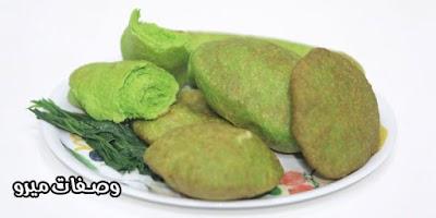 خبز اخضر بالسبانخ -  نجلاء الشرشابى