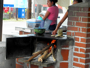 Photo: frying empanadas