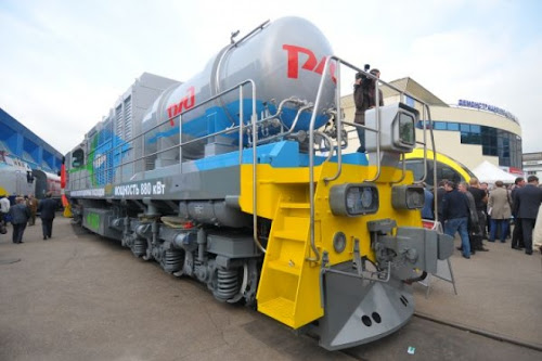 Lokomotywa TEM19 zasilana skroplonym gazem ziemnym (LNG)