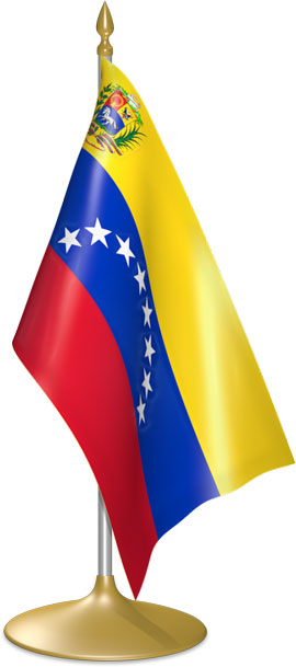 Venezuelan table flags - desk flags