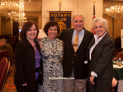 Effie Nicholas of the fundraising comiteee, Netty Russo Event organizer, Bob Auriemma, Rotary President, Arlene Rodriguez publicity chair. Photos by TOM HART/  FREELANCE PHOTOGRAPHER