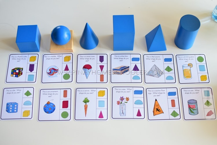 Real Life 3D Activity Cards