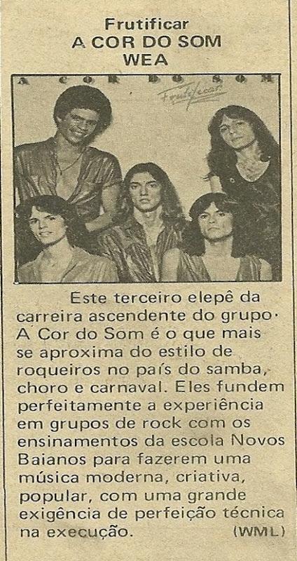 A Cor do Som, Frutificar - Música 09-1979