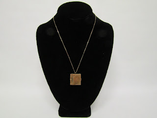 14K Gold Chain Necklace with Antique Brass Locket