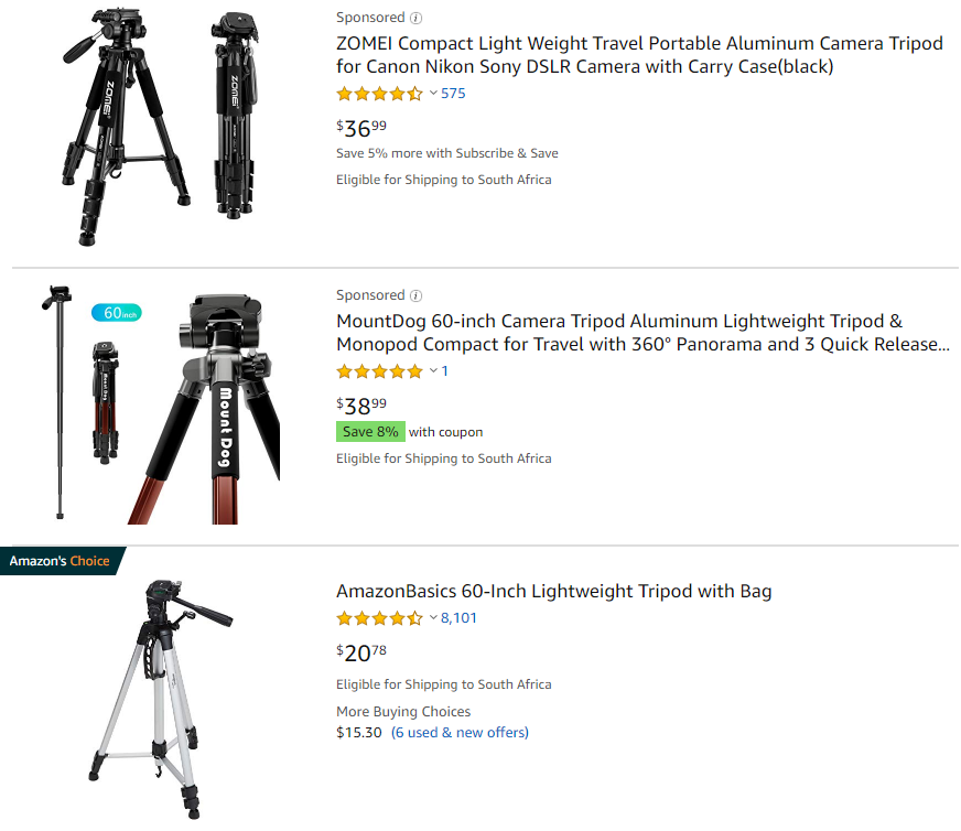 eLearning video production: Tripod options