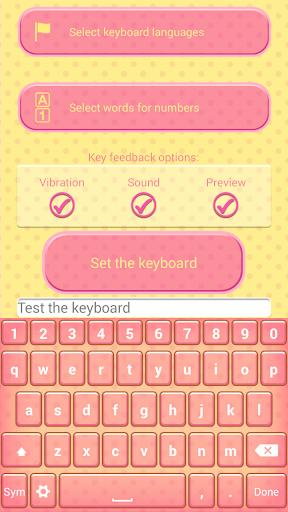 Cute Cupcake Keyboard Theme