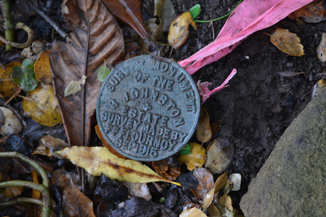 survey marker for the Johnston estate, as the right hand land must have been in Sept 1915