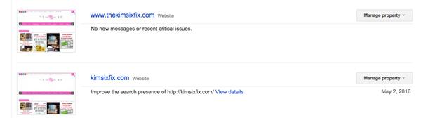 Both urls in webmaster tools