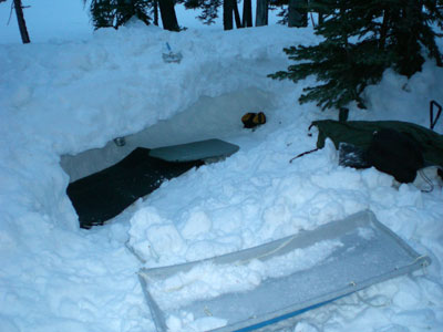 """Snow \""""coffin\"""" ready for occupants"""