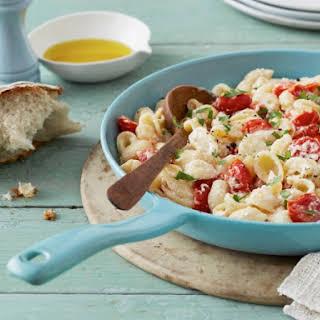 Orecchiette Pasta with Ricotta and Cherry Tomatoes.