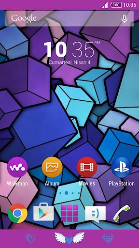 For Xperia Theme Purple