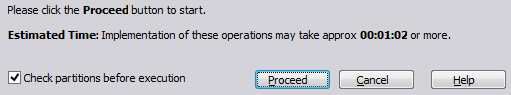 Check partitions before executions