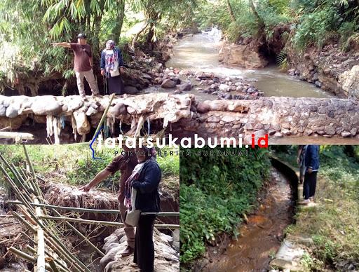 Bendungan Daerah Irigasi Cimuncang Kebonpedes Jebol, 10 HA Areal Pertanian Terancam