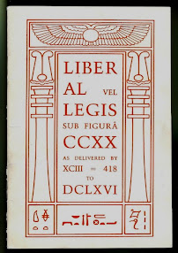 Cover of Aleister Crowley's Book Liber AL vel Legis