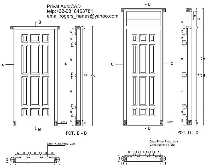 Desain Pintu Rumah Autocad - Rumah XY
