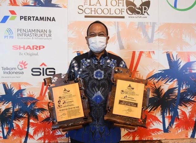 Implementasikan Progran Klinik Gizi SEHATI, Pertamina Raih Penghargaan Nusantara CSR Awards 2021