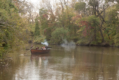 RE-ENACTORS ON  BATTOE 'MOON' ON THE HACKENSACK RIVER. Photos by TOM HART/  FREELANCE PHOTOGRAPHER.