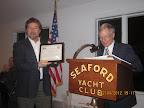 Bobby D getting Outstanding Member award.